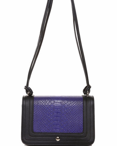 Two Tone Small Shoulder Bag - Jezzelle