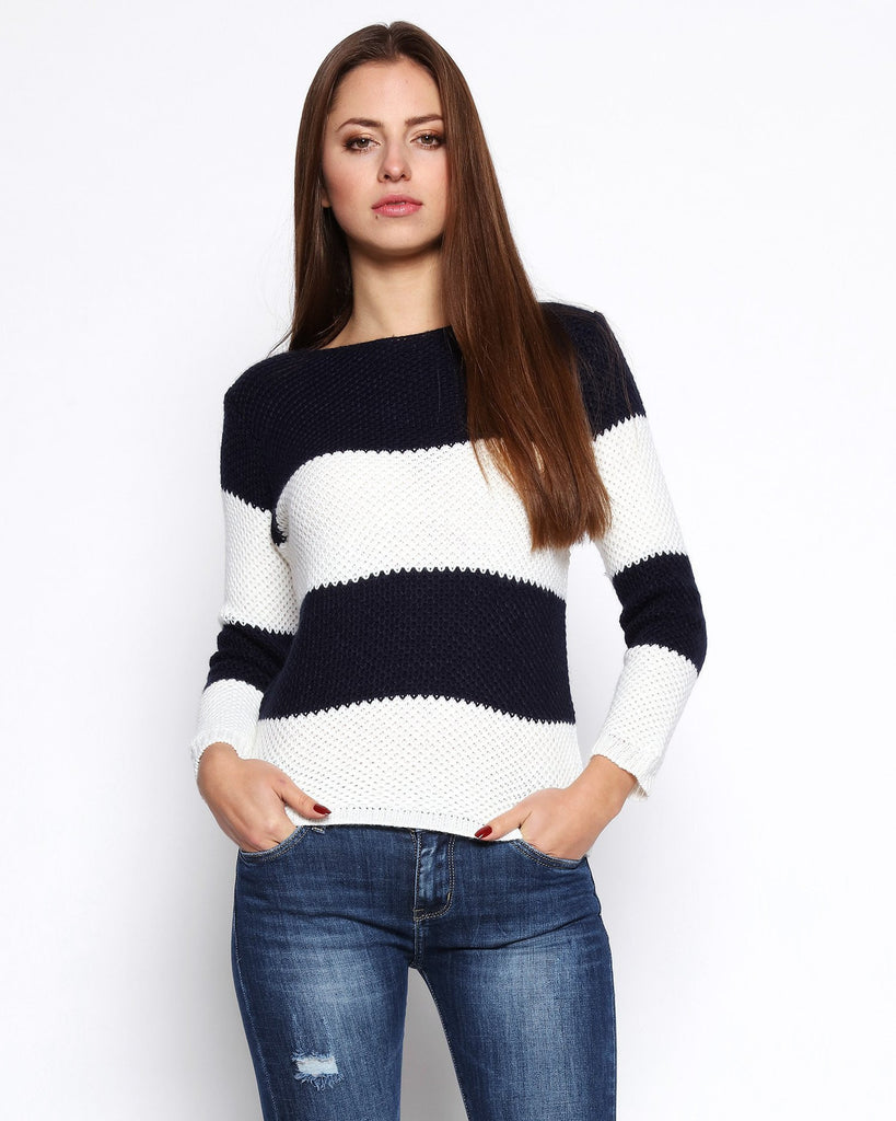 Mohair Nautical Pullover-Jezzelle