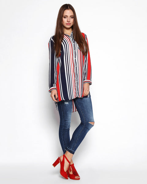 Multi Coloured Striped Shirt - Jezzelle