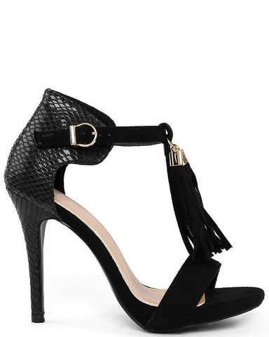 Black Tassel Shoes - Jezzelle