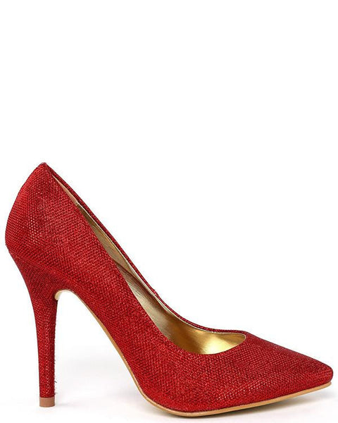 Red Shimmer Shoes - Jezzelle
