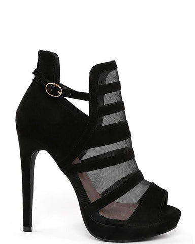 High Heel Mesh Booties-Jezzelle