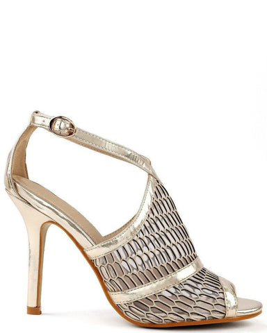 Gold Metallic Sandals-Jezzelle
