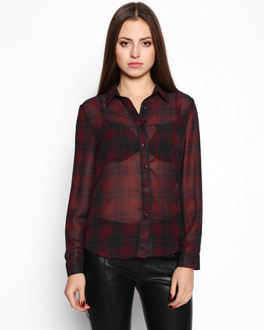 Sheer Check Shirt - Jezzelle