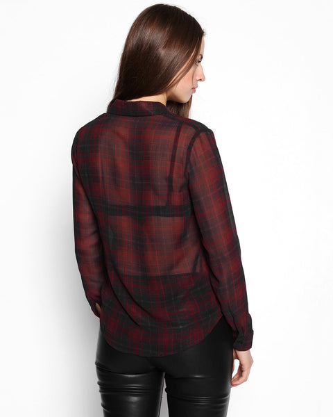Sheer Check Shirt-Jezzelle