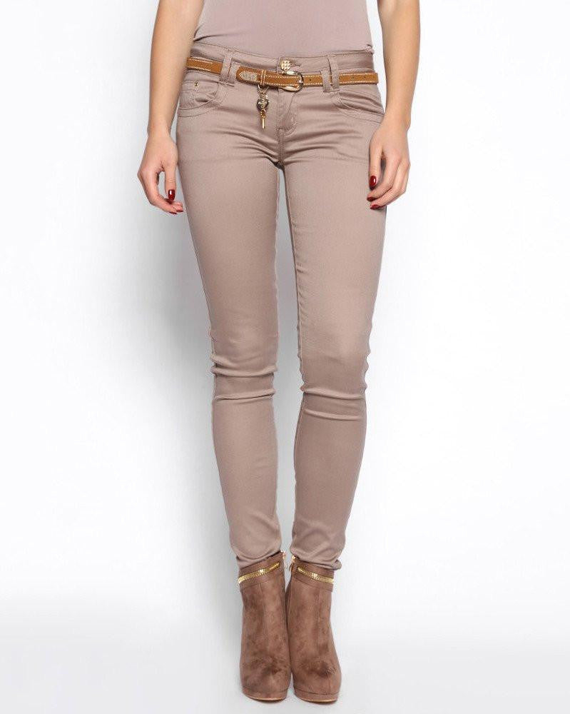 Skinny Trousers with Belt-Jezzelle