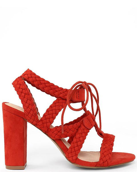 Braided Straps Wedge Heel Sandals-Jezzelle