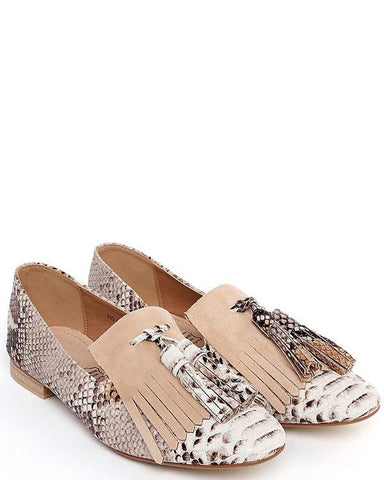 Snake Print Loafer Pumps-Jezzelle