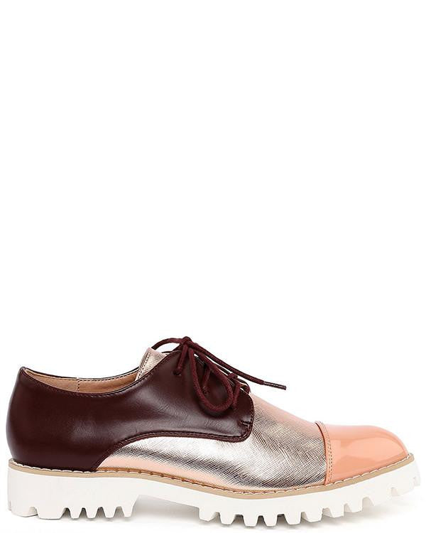 Cleated Sole Brogues-Jezzelle