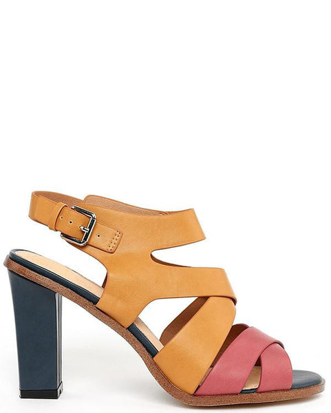 Two-tone Wedge Heel Sandals - Jezzelle