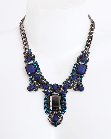 Vintage Blue Necklace-Jezzelle