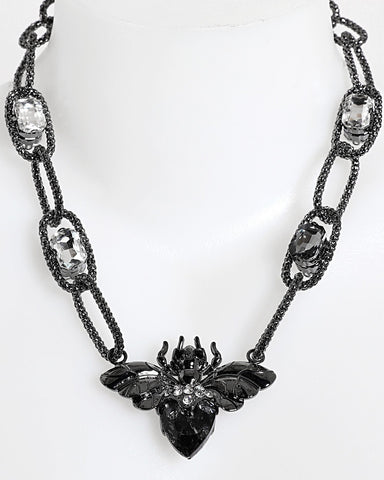 Black Insect Necklace - Jezzelle
