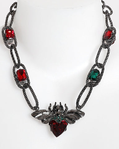Red & Green Insect Necklace - Jezzelle