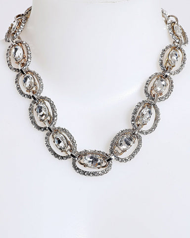Encrusted Links Chain Necklace - Jezzelle