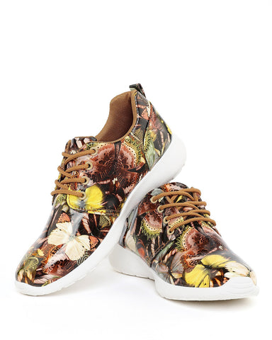Butterfly Print Trainers