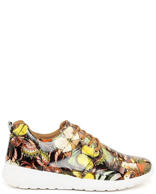 Butterfly Print Trainers-Jezzelle
