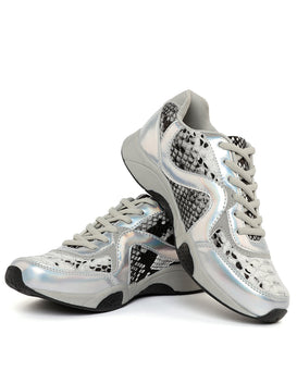 Python Print Holographic Trainers-Jezzelle