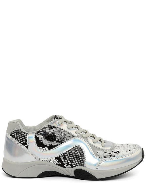 Python Print Holographic Trainers - Jezzelle