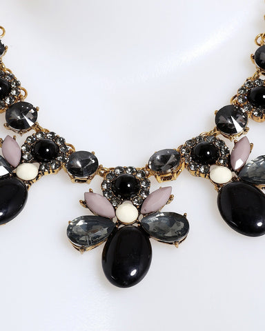 Black and Gold Necklace-Jezzelle