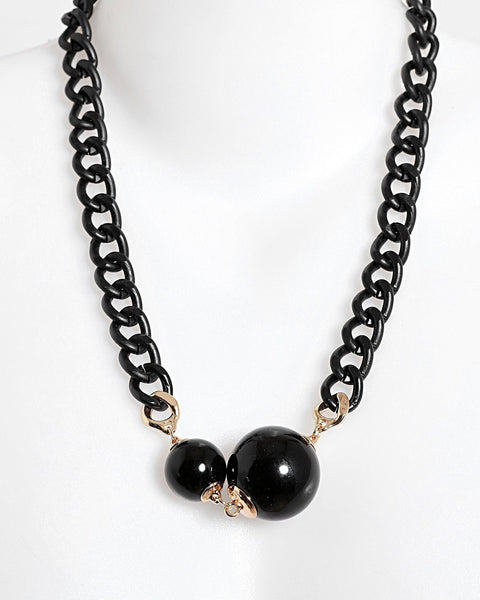 Chucky Black Chain Necklace - Jezzelle