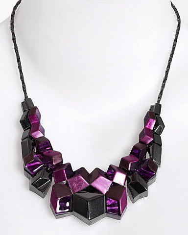3D Cubes Necklace-Jezzelle