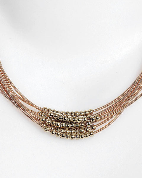 Layered Spring Coils Necklace-Jezzelle