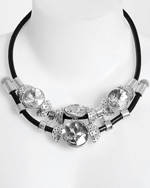 Large Crystals Chocker Necklace-Jezzelle