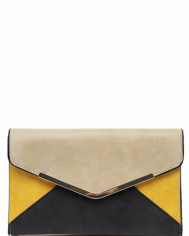 Black & Yellow Matt Clutch