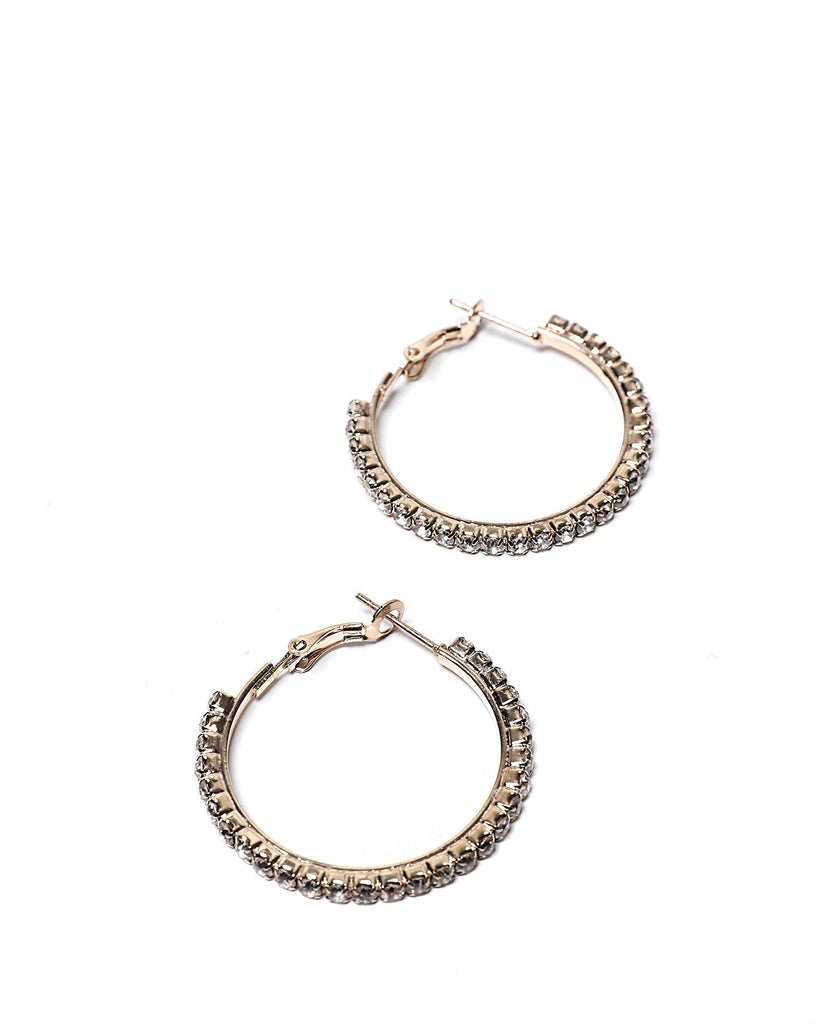 Encrusted Hoop Earrings-Jezzelle