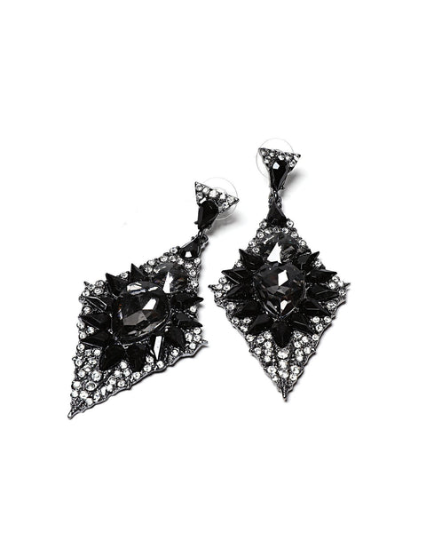 Encrusted Drop Earrings - Jezzelle