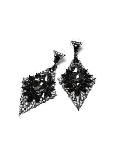 Encrusted Drop Earrings-Jezzelle