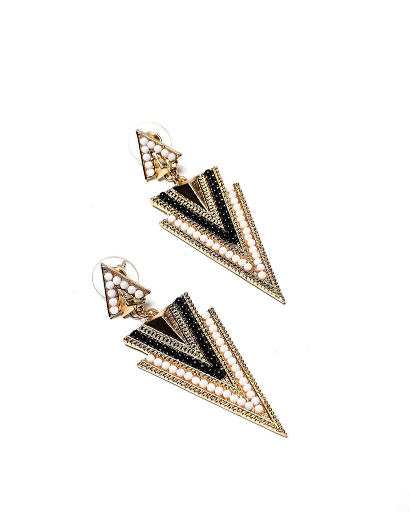 Pyramid Drop Earrings - jezzelle