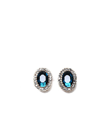 Blue Cluster Stud Earrings - Jezzelle