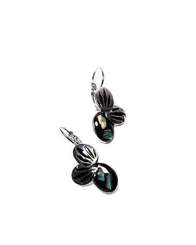 Green Leaves Hook Earrings-Jezzelle