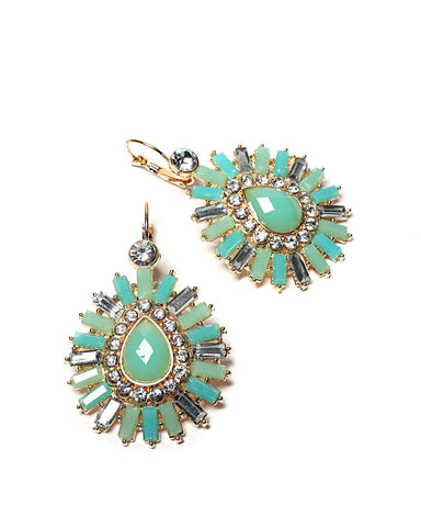 Exquisite Green Earrings - Jezzelle