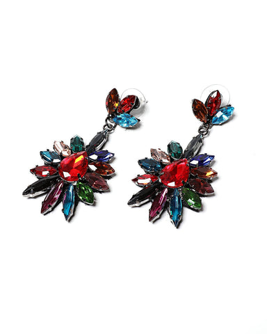 Multicolour Drop Earrings-Jezzelle