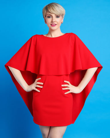 Butterfly Wings Red Dress - Jezzelle
