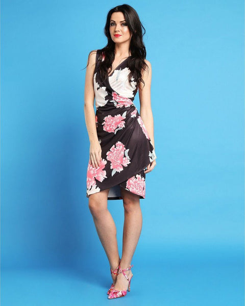 Floral Wrap Dress-Jezzelle