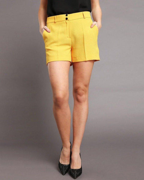 Yellow Smart Shorts - Jezzelle