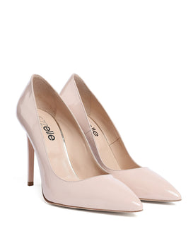 Nude Patent Leather Pumps - jezzelle  - 2