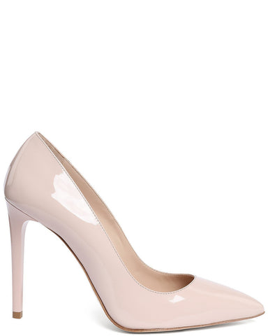 Nude Patent Leather Pumps - Jezzelle