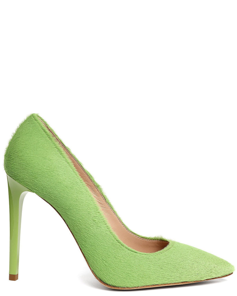 Green Calf Hair Pumps-Jezzelle