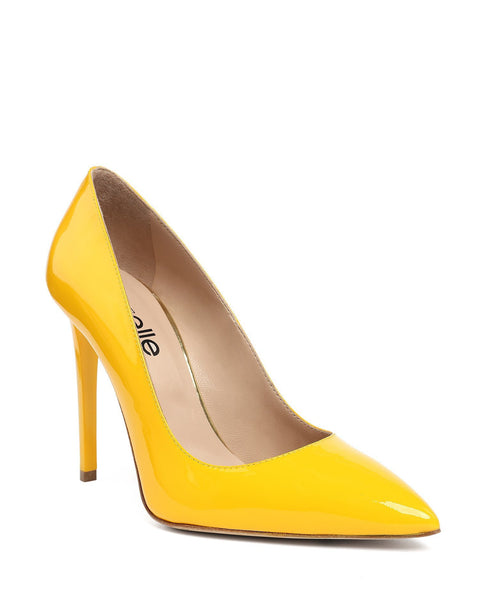 Yellow Patent Pumps-Jezzelle