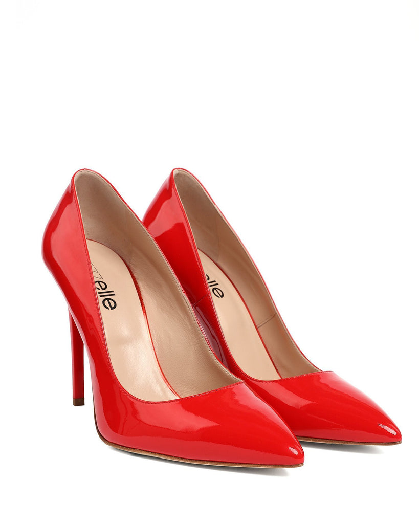Red Patent Leather Pumps - jezzelle  - 2