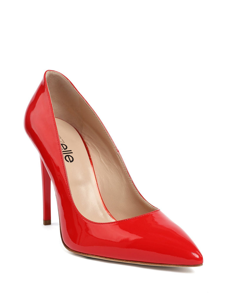 Red Patent Leather Pumps - jezzelle  - 4