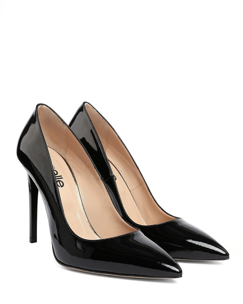 Black Patent Leather Pumps - jezzelle  - 2
