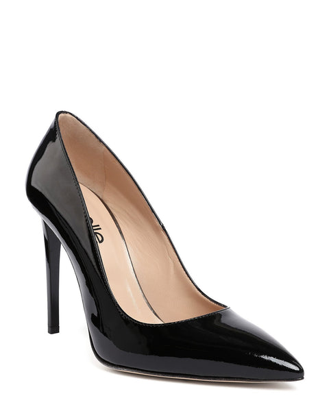 Black Patent Leather Pumps - jezzelle  - 3