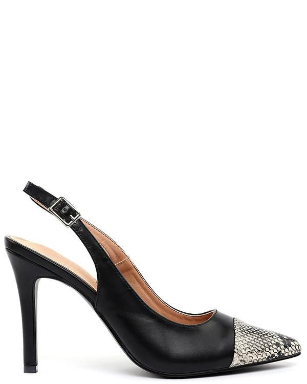 Black Slingback Pumps-Jezzelle