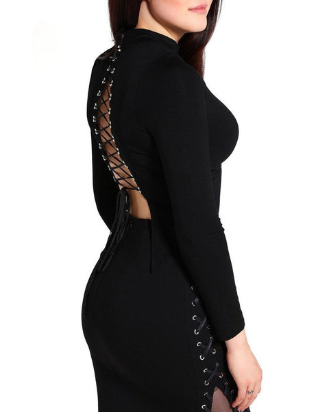 Lace-Up Bare Back Top - Jezzelle