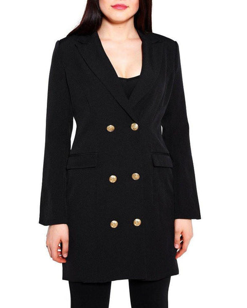 Double Breasted Blazer Dress - Jezzelle